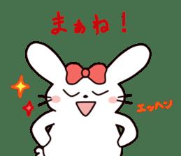 Ribbon of the rabbit 2 sticker #2050907