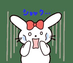 Ribbon of the rabbit 2 sticker #2050908
