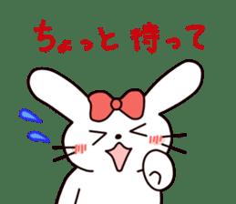 Ribbon of the rabbit 2 sticker #2050914