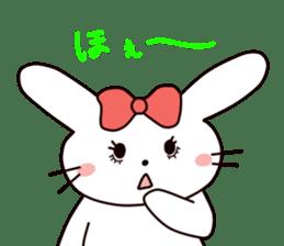 Ribbon of the rabbit 2 sticker #2050918