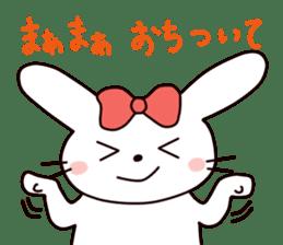 Ribbon of the rabbit 2 sticker #2050920