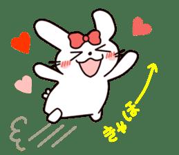 Ribbon of the rabbit 2 sticker #2050922