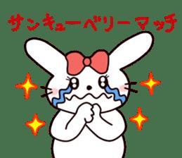 Ribbon of the rabbit 2 sticker #2050924
