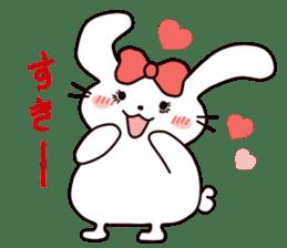 Ribbon of the rabbit 2 sticker #2050930