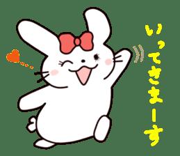 Ribbon of the rabbit 2 sticker #2050931
