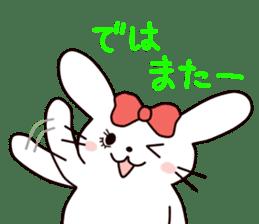 Ribbon of the rabbit 2 sticker #2050932