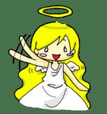 pretty angel & little devil sticker #2051579