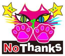 SHOCKING PINKiee the Cat <English Ver.1> sticker #2052432