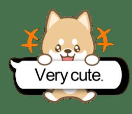 Shiba inu (English version) sticker #2053496