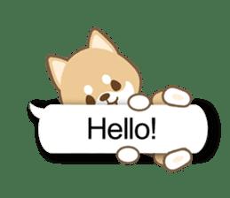 Shiba inu (English version) sticker #2053506