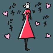 สติ๊กเกอร์ไลน์ Woman -for you-