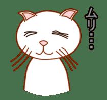 Cute  White Cat sticker #2055414