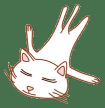 Cute  White Cat sticker #2055421