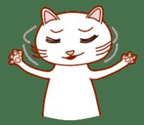 Cute  White Cat sticker #2055424