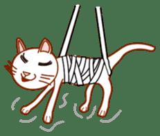Cute  White Cat sticker #2055433