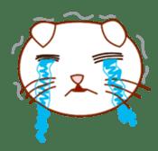 Cute  White Cat sticker #2055437