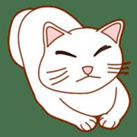 Cute  White Cat sticker #2055438