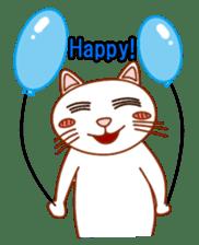 Cute  White Cat sticker #2055444