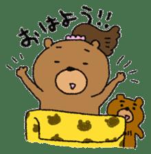 Bear ponytail sticker #2056293