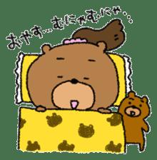 Bear ponytail sticker #2056294