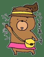 Bear ponytail sticker #2056295