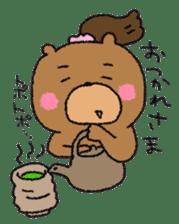 Bear ponytail sticker #2056298