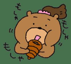 Bear ponytail sticker #2056301