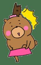 Bear ponytail sticker #2056302