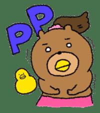 Bear ponytail sticker #2056303