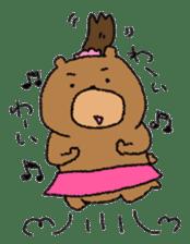 Bear ponytail sticker #2056305