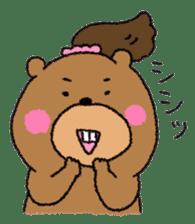 Bear ponytail sticker #2056306