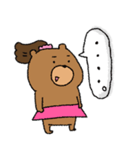 Bear ponytail sticker #2056307