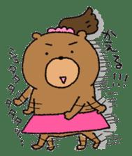 Bear ponytail sticker #2056309