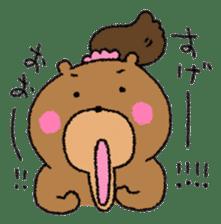 Bear ponytail sticker #2056312