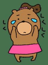 Bear ponytail sticker #2056313