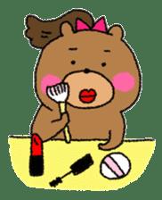Bear ponytail sticker #2056318