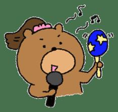 Bear ponytail sticker #2056319