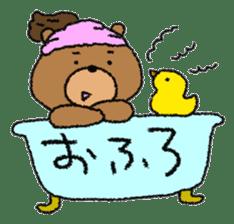 Bear ponytail sticker #2056323