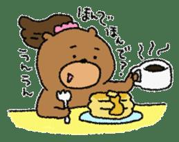 Bear ponytail sticker #2056324