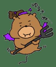 Bear ponytail sticker #2056328
