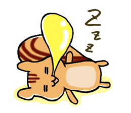 Squirrels and cute cat sticker #2056716