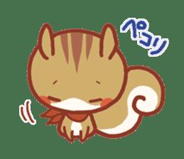 Leisurely squirrel sticker #2057186