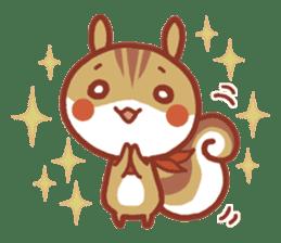 Leisurely squirrel sticker #2057190