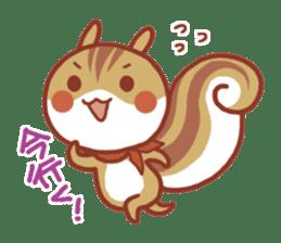 Leisurely squirrel sticker #2057191