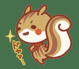 Leisurely squirrel sticker #2057196