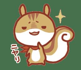 Leisurely squirrel sticker #2057197