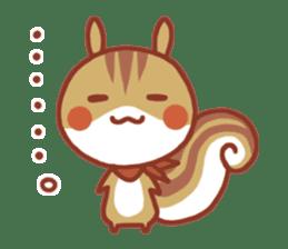 Leisurely squirrel sticker #2057200