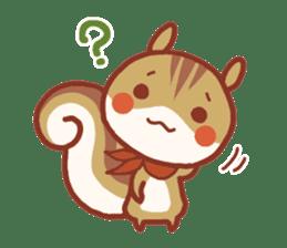 Leisurely squirrel sticker #2057201