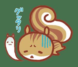 Leisurely squirrel sticker #2057202