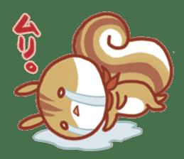 Leisurely squirrel sticker #2057203